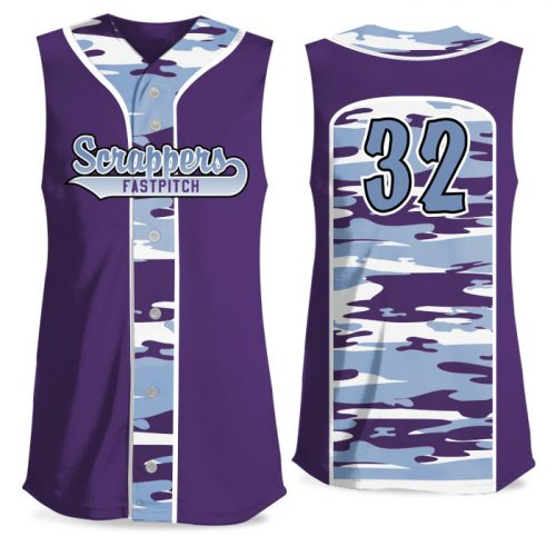 Custom Sublimated Elite Camo Soul Traditional FP Jersey SL Full-Button