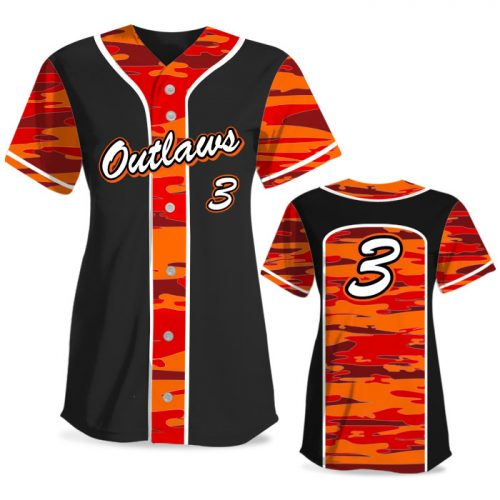 Custom Sublimated Elite Camo Soul Traditional FP Jersey SS Full-Button