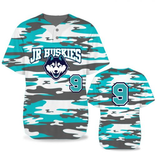 Custom Sublimated Elite Camo Traditional BB Jersey SS 2-Button