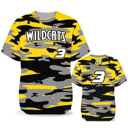 Custom Sublimated Elite Camo Traditional BB Jersey SS No-Button