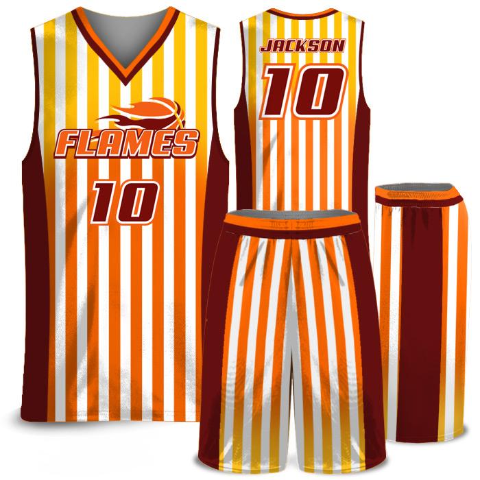Elite Candy Stripe basketball uniform