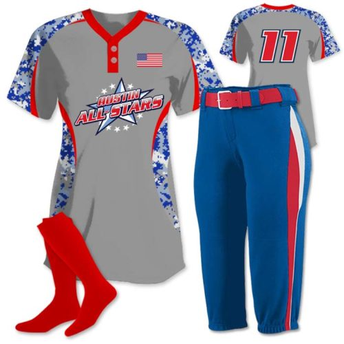 Elite Chameleon Digi Camo 2 Custom Sublimated Fastpitch Jersey
