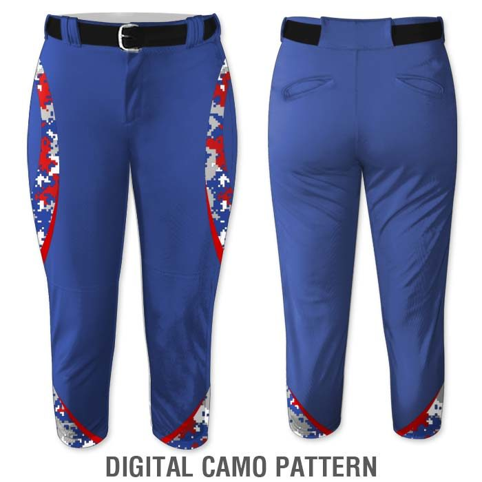 Digital Camo print Elite Chameleon Fastpitch Pants