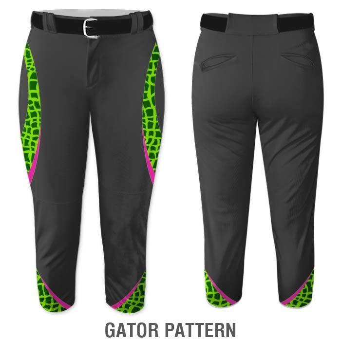 Gator print Elite Chameleon Fastpitch Pants