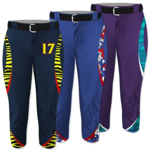 Custom Sublimated Animal Print, Elite Chameleon Fastpitch Pants