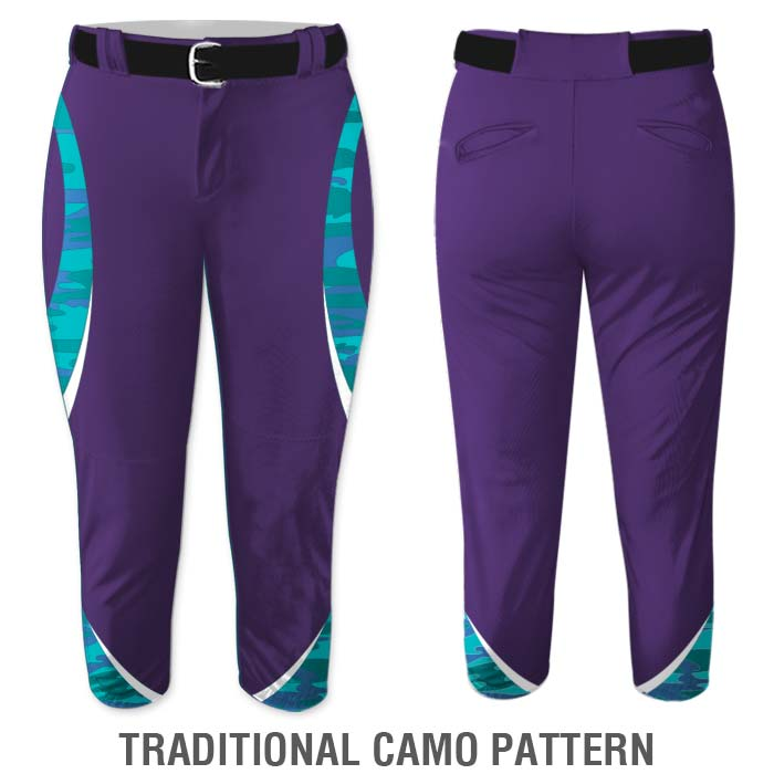 Traditional Camo print Elite Chameleon Fastpitch Pants