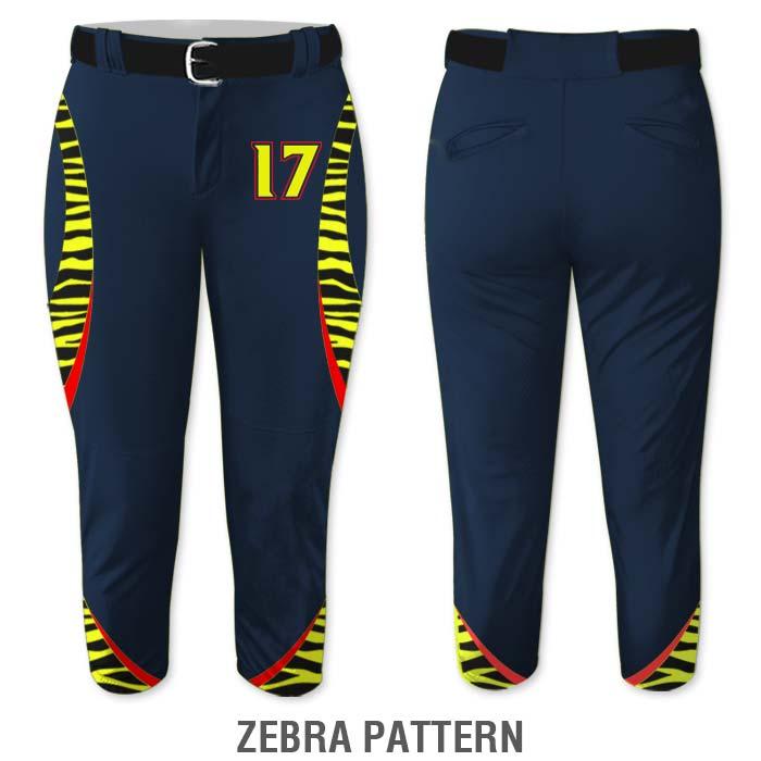 Zebra print Elite Chameleon Fastpitch Pants