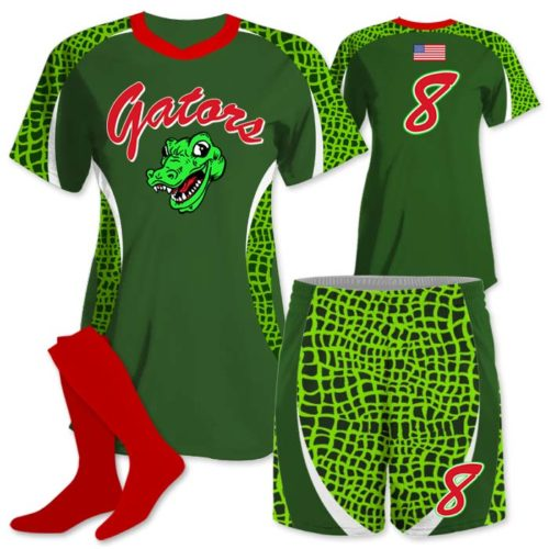 Elite Chameleon Gator, Custom Sublimated Softball Uniform