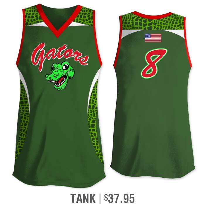 Elite Chameleon Gator, Custom Sublimated Softball Uniform
