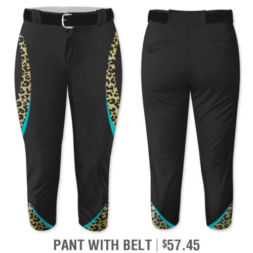Elite Chameleon Leopard Deluxe, Custom Sublimated Softball Uniform Pants