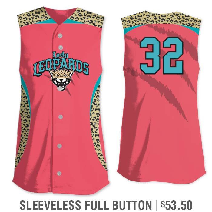 Elite Chameleon Leopard Deluxe, Custom Sublimated Softball Uniform Jersey