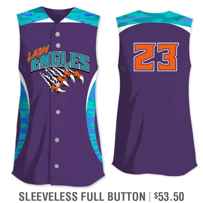 Elite Chameleon Traditional Camo Custom Sublimated Softball Jersey