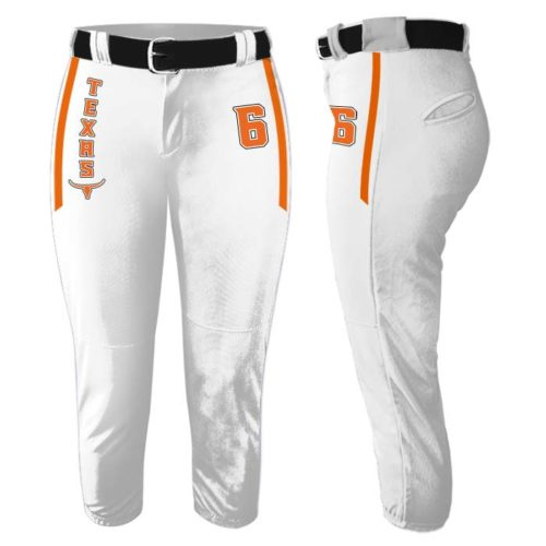 Custom Sublimated Elite Collegiate Fastpitch Pants