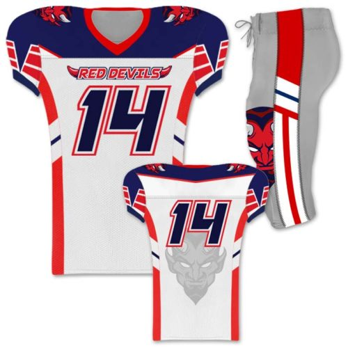 4891e5579 Elite Control Front of jersey Elite Control Custom Sublimated Football  Uniform