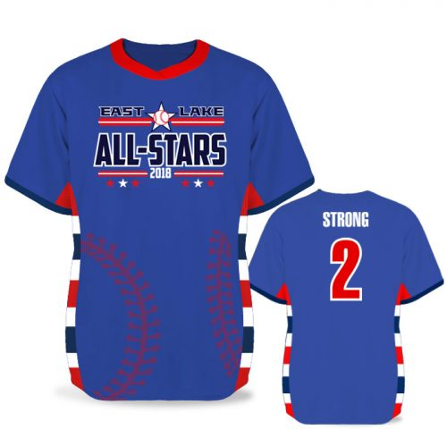 Custom Sublimated Elite Diehard BB Jersey SS No-Button