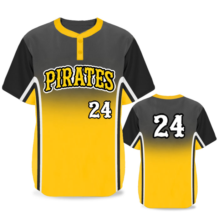 Custom Sublimated Elite Doubleheader BB Jersey SS 2-Button