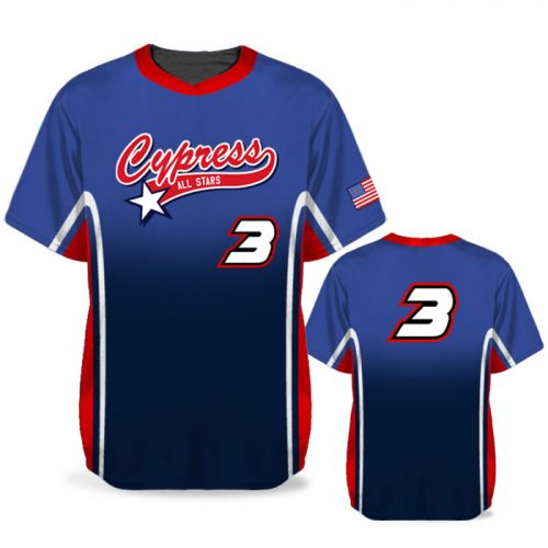 Custom Sublimated Elite Doubleheader BB Jersey SS No-Button