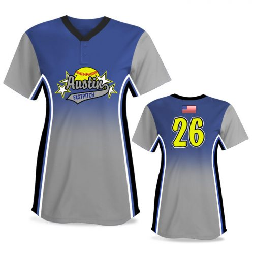 Custom Sublimated Elite Doubleheader FP Jersey SS 2-Button