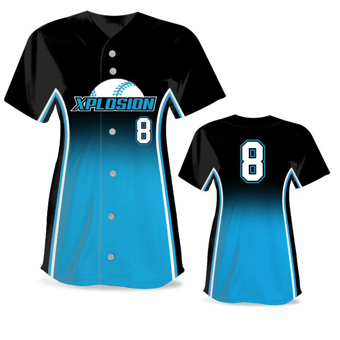 Custom Sublimated Elite Doubleheader FP Jersey SS Full-Button
