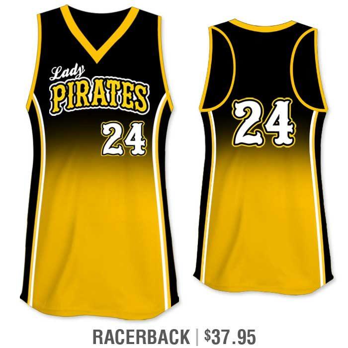 Elite Doubleheader Custom Fastpitch Jersey, Sublimated Softball Uniform Builder, Gradient, Racerback