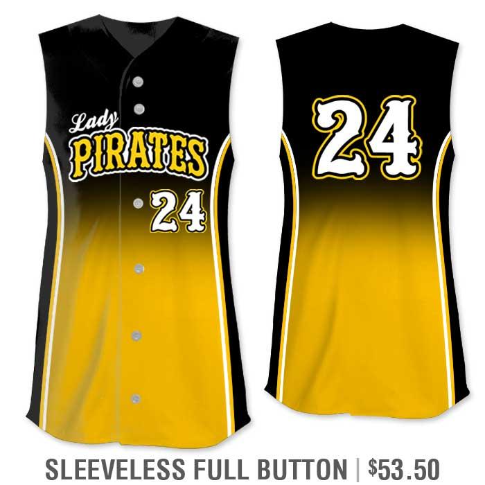 r Custom Fastpitch Jersey, Sublimated Softball Uniform Builder, Gradient, Sleeveless Full-Button Vest