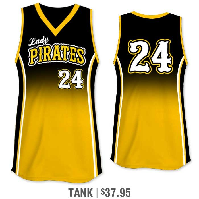 Elite Doubleheader Custom Fastpitch Jersey, Sublimated Softball Uniform Builder, Gradient, Tank