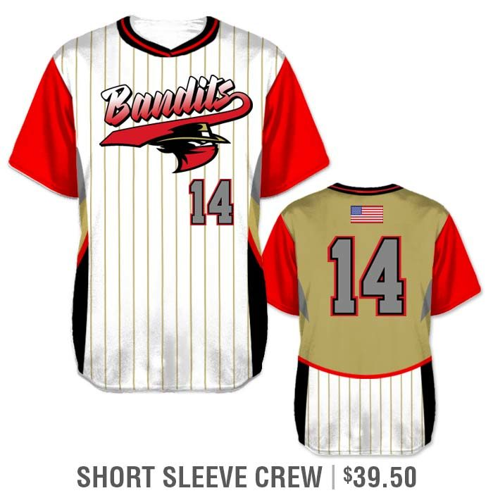 Elite Foul Lines Custom Baseball Jersey, Sublimated Short Sleeve Pullover Crew