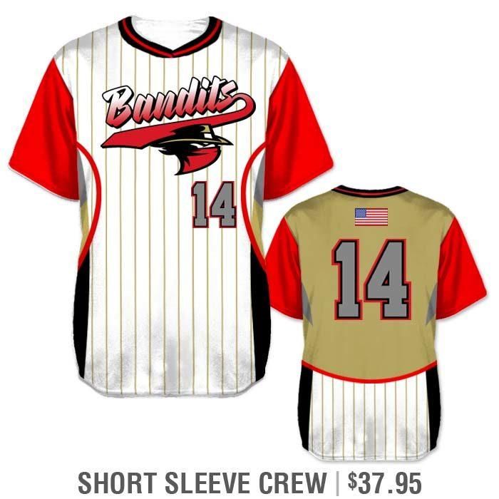 Elite Foul Lines Custom Baseball Jersey, Sublimated Short Sleeve Pullover Crew