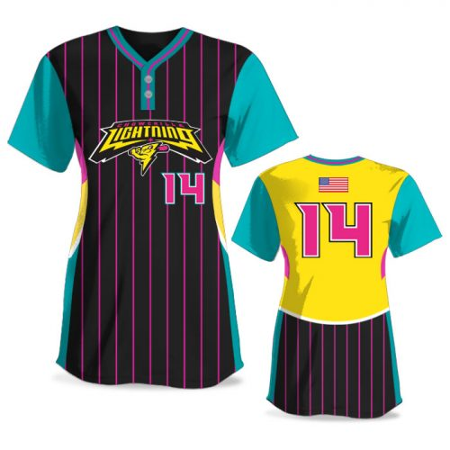 Custom Sublimated Elite Foul Lines FP Jersey SS 2-Button