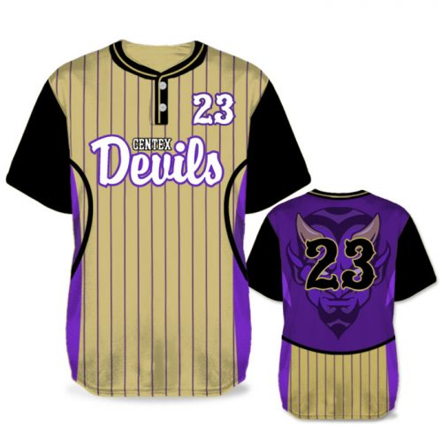 Custom Sublimated Elite Foul Lines BB Jersey SS 2-Button