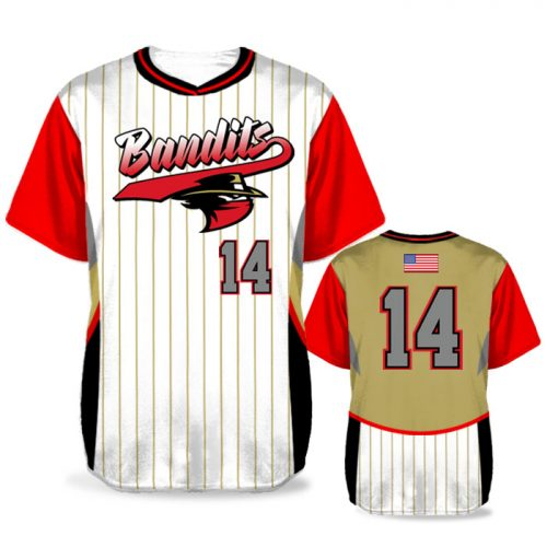 Custom Sublimated Elite Foul Lines BB Jersey SS No-Button