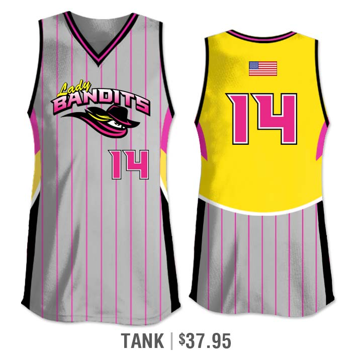 Elite Foul Lines Custom Fastpitch Jersey, Sublimated, Tank