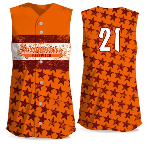 Custom Sublimated Elite Grand Old Flag FP Jersey SL Full-Button