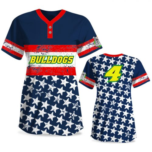 Custom Sublimated Elite Grand Old Flag FP Jersey SS 2-Button