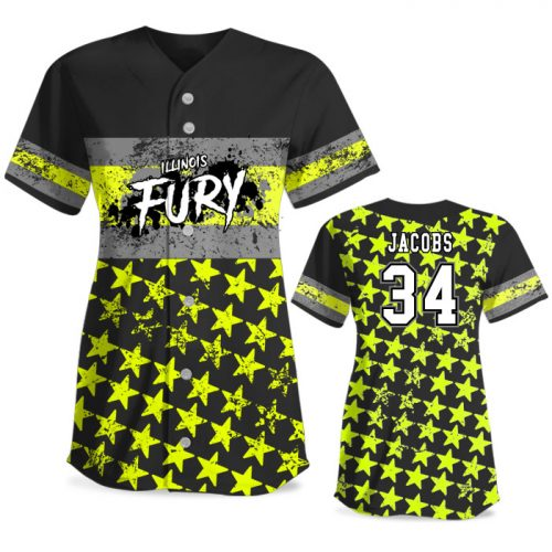 Custom Sublimated Elite Grand Old Flag FP Jersey SS Full-Button