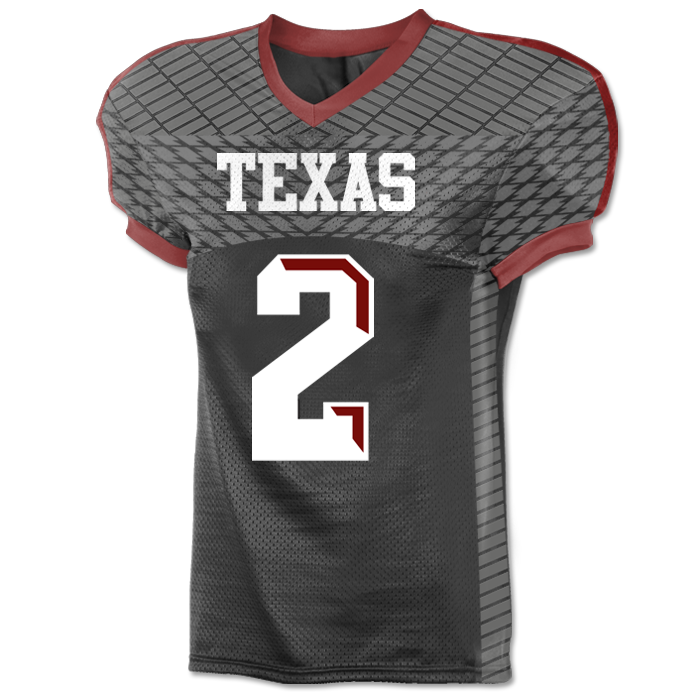 This is the Elite Gridiron custom sublimated football jersey made by Team Sports Planet.