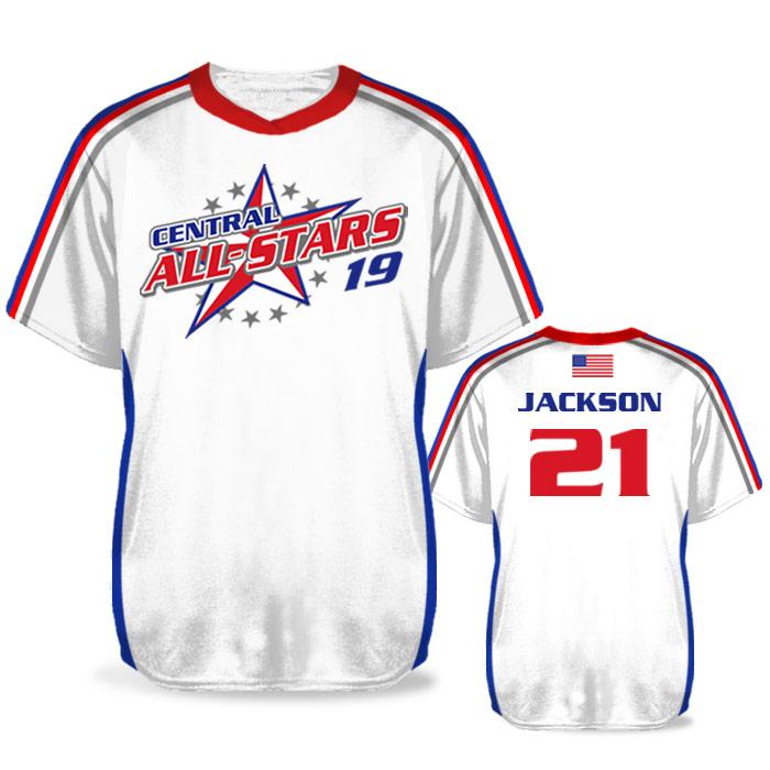 Custom Sublimated Elite Iconic BB Jersey SS No-Button