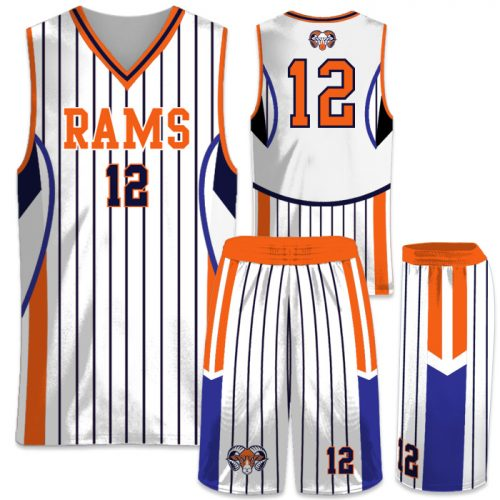 Elite In the Paint Pinstripe Custom Sublimated Basketball Uniform