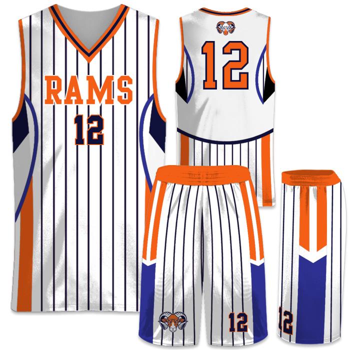 Elite In the Paint Pinstripe Custom Sublimated Basketball Uniform