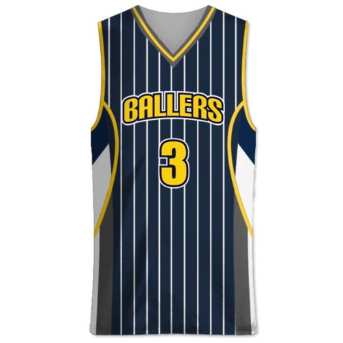 Elite In the Paint Custom Sublimated Pin-Stripe Basketball Uniform