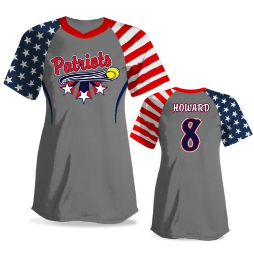 Custom Sublimated Elite Independence Day FP Jersey SS No-Button