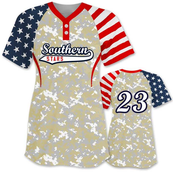Elite Independence Day Short Sleeve shown with digital camo