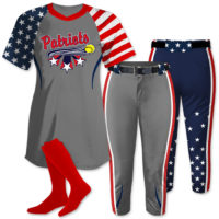 ndependence Day Softball Uniform, Patriotic, Custom Sublimated, Allstars