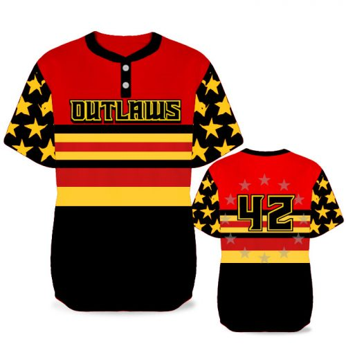 Custom Sublimated Elite Let Freedom Ring BB Jersey SS 2-Button