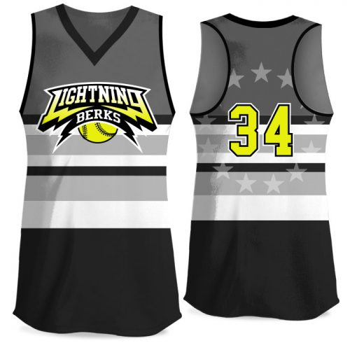 Custom Sublimated Elite Let Freedom Ring FP Jersey Racerback