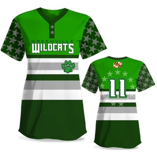 Custom Sublimated Elite Let Freedom Ring FP Jersey SS 2-Button