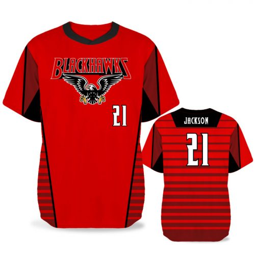 Custom Sublimated Elite Lineup BB Jersey SS No-Button