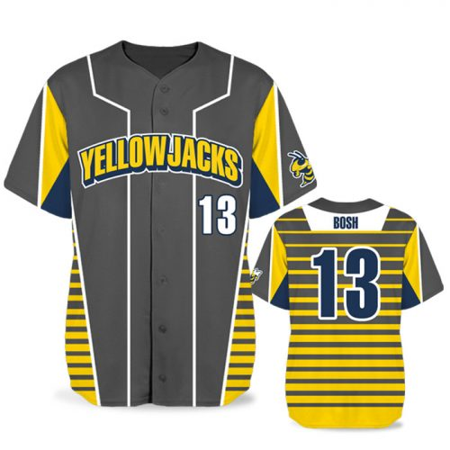 Custom Sublimated Elite Lineup BB Jersey SS Full-Button