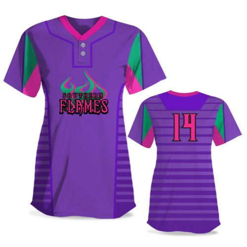 Custom Sublimated Elite Lineup FP Jersey SS 2-Button