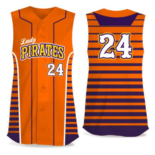 Custom Sublimated Elite Lineup FP Jersey SL Full-Button